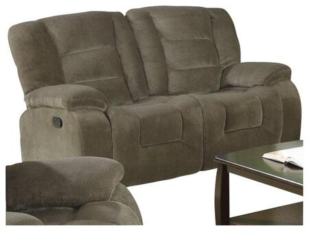 Coaster 600992 Charlie Series Fabric Reclining with Wood Frame Loveseat