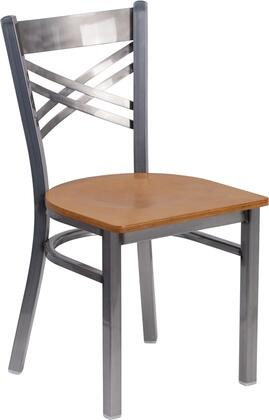 Flash Furniture XU6FOBCLRNATWGG Hercules Series Contemporary Metal Frame Dining Room Chair