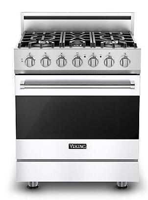 "Viking RVGR3305BWH 30""  Gas Freestanding Range with Sealed Burner Cooktop, 4.0 cu. ft. Primary Oven Capacity, in White"