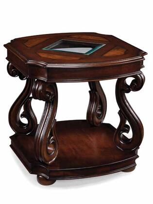 Magnussen T164803 Harcourt Series Traditional Rectangular End Table