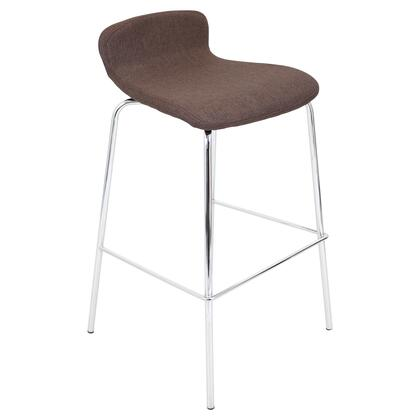 "LumiSource BS-TW-FSTK Fabric Stacker 30"" Bar Stool"