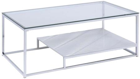 Acme Furniture 80430 Chrome Transitional Table