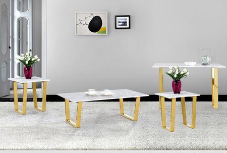 Meridian 2124PCRC2SERNKIT1 Cameron Living Room Table Sets
