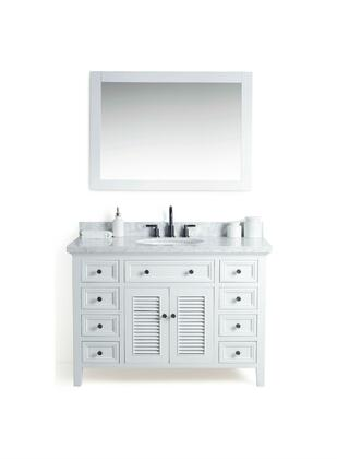 "Legion Furniture WS2148 48"" Solid Wood Sink Vanity With Mirror And Faucet"