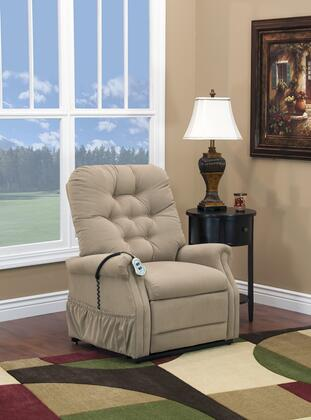 MedLift 1555PAALB Contemporary Fabric Wood Frame  Recliners