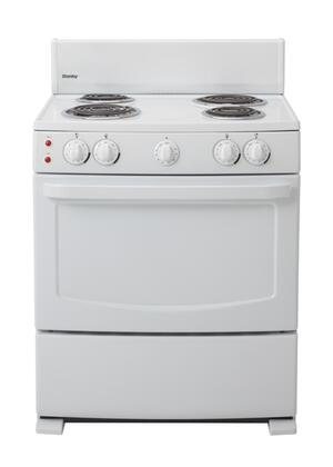 Danby DER3009W  Electric Freestanding Range with Coil Element Cooktop, 4.3 cu. ft. Primary Oven Capacity, Broiler in White
