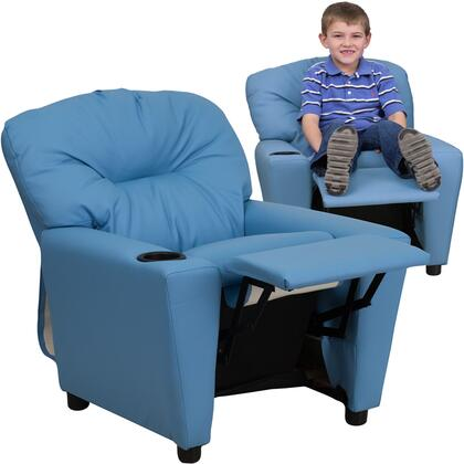 Flash Furniture BT7950KIDLTBLUEGG Childrens Vinyl Wood Frame  Recliners