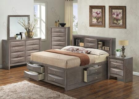 Glory Furniture G1505GQSB3DMN G1505 Queen Bedroom Sets