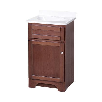Foremost COCAT Columbia Collection Vanity Combo with Brushed Nickel Knobs and a Closed Arched Toe Kick in a Cherry Finish
