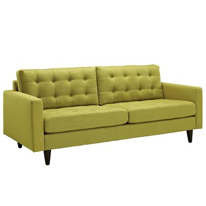 Modway EEI1011WHE Empress Series Stationary Fabric Sofa