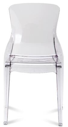 Domitalia CRYSTAL4PCTR02 Crystal Series Contemporary Plastic Frame Dining Room Chair