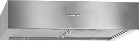 Miele DA12x0 Built-In Under Cabinet Hood with 400 CFM Blower, 10-Layer Stainless Steel Grease Filters, Intensive Mode, and LED Lighting, in Stainless Steel
