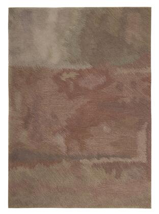 Milo Italia Kaiya RG448729TM X Size Rug with Handmade Abstract Watercolor Design, Polyester Material and Backed with Cotton in Multi Color