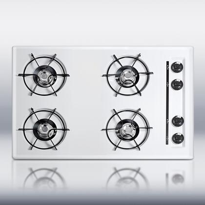 Summit WTL05P  Gas Open Style Cooktop, in White
