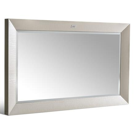 """VIG Furniture VGUNAW A&X Glam 47"""" Wide Rectangular Mirror with Laser Etched Crocodile Texture and Beveled Edges in High Gloss Lacquer"""