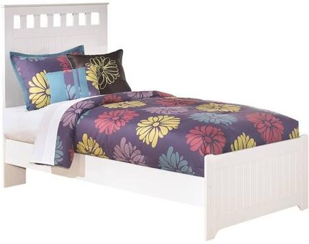 Signature Design by Ashley B102PANELBED  Lulu Collection x Size Panel Bed with Grooved Panels and Replicated Paint in White