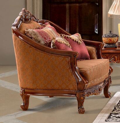 Homey Design HD904CH Fabric Armchair with Wood Frame