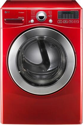 """LG DLGX3071 27"""" Front-Load Gas Dryer with 7.3 cu. ft. Capacity, 12 Dry Cycles, 10 Options, Steam Functions, Sensor Dry, Drying Rack and Dual LED Display"""
