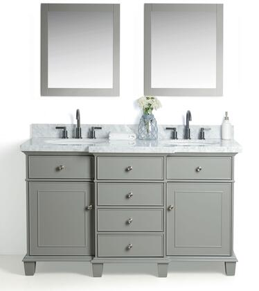 "Legion Furniture WS2260 60"" Solid Wood Sink Vanity With Mirror And Faucet"