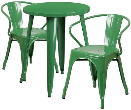 Flash Furniture CH51080TH218ARMGNGG Round Shape Patio Sets