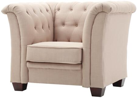 Glory Furniture G320C Suede Armchair in Vanilla Suede