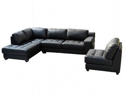 Diamond Sofa LAREDOLF3PCSECTB Casual Bonded Leather Living Room Set