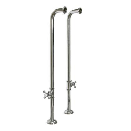 Barclay 4502MC3 Freestanding Tub Supplies with Stops and Cross Handles in