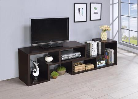 Coaster 8003C TV Stands Convertible TV Console and Bookcase Combination with 4 Compartments and Open Back in Finish