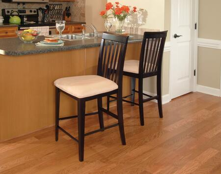 Atlantic Furniture MONTREALPCOC Montreal Collection Set of 2 Pub Chairs with Oatmeal Seat Cushions: