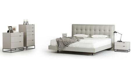 VIG Furniture VGCNHERABEDQCD2N Modrest Hera Queen Bedroom Se
