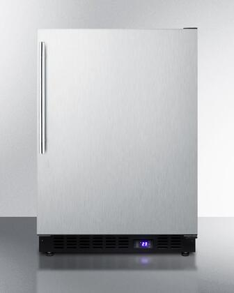 """Summit SCFF53BXSSHV 24""""  Counter Depth Freezer with 4.72 cu. ft. Capacity in Stainless Steel"""