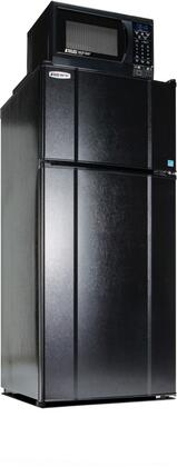 MicroFridge 10.3LMF4-9D Freestanding Top Freezer Refrigerator with 10.3 Cu. Ft. Capacity, 850 Watt Microwave, Smoke Sensor, USB Charging Station, Temperature Control and Left Hinge Door in