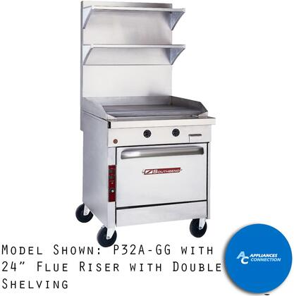 24 Inch Flue Riser with Double Shelving
