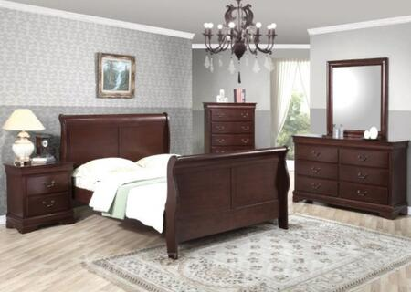 Yuan Tai 6702KCHSET Louis Philippe King Bedroom Sets