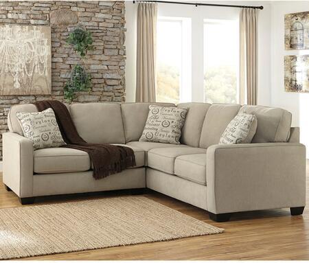 Flash Furniture FSD1669SEC2PCQTZGG Alenya Series Stationary Microfiber Sofa