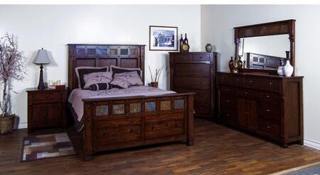 Sunny Designs 2322DCKBDM2NC Santa Fe King Bedroom Sets