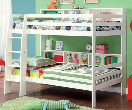 Furniture of America CMBK613WHBED Camino Series  Twin Size Bed