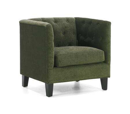 Armen Living LC8431GR Melrose Series  with Chenille Frame in Green