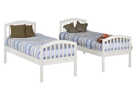 Orbelle BB450W  Twin Size Bunk Bed