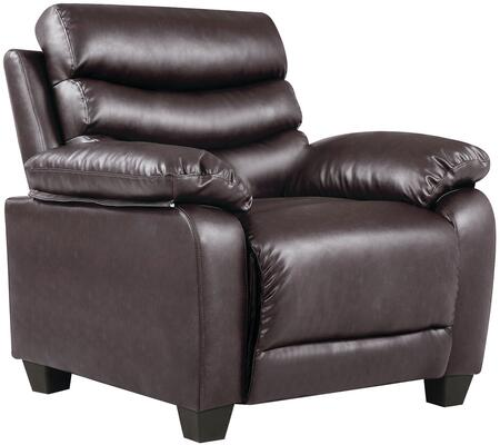Glory Furniture G563C Faux Leather Armchair in Dark Brown