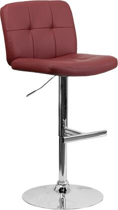 Flash Furniture DS829BURGGG Residential Vinyl Upholstered Bar Stool