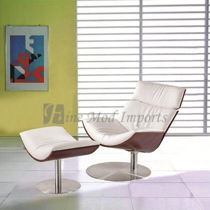 Fine Mod Imports FMI8003WHITE modern/contemporary Leather Chaise Lounge