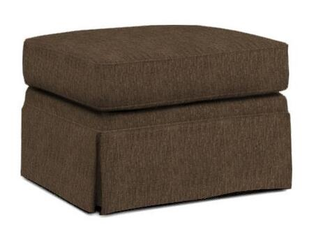"Broyhill Audrey 3762-5/COLOR 27"" Wide Ottoman with Casters, Skirt Bottom and Hand Tailored in"