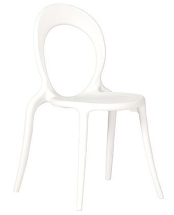 ITALMODERN L3683WHT Holly Series Modern Not Upholstered Plastic Frame Dining Room Chair