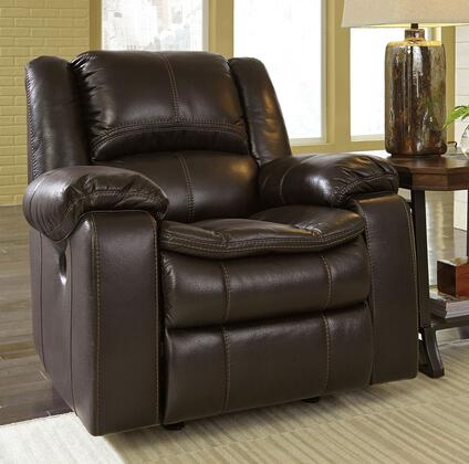 Milo Italia Luciano MI-6835CTMP Rocker Recliner with Thick Padded Arms, Bustle Back Design and Contoured Pillow Top Seat in