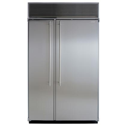 Marvel M48SSSS  Counter Depth Side by Side Refrigerator with 32.5 cu. ft. Capacity in Stainless Steel