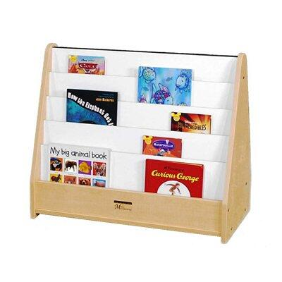 Mahar M51025 Toddler Double-Sided Bookstand with Write & Wipe in Maple Finish with Edge Color