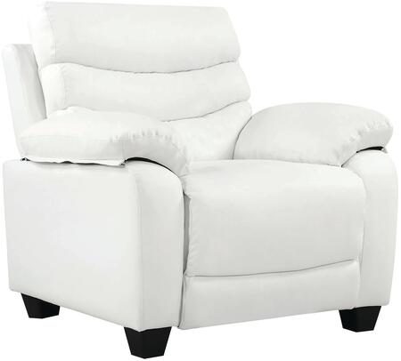 Glory Furniture G560C Faux Leather Armchair in White