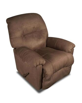 Chelsea Home Furniture 1893502550 Wyoming Series Transitional Calcutta Chocolate Wood Frame  Recliners