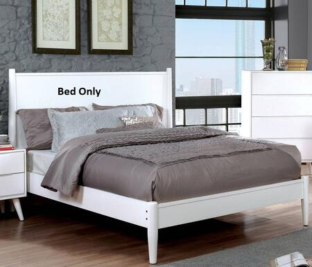 Furniture of America CM7386WHEKBED Lennart II Series  King Size Panel Bed